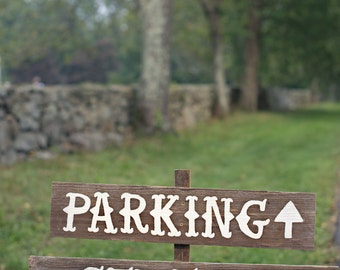 Parking Sign, Ceremony Sign, Wedding Sign, Rustic Wedding Signs. LARGE FONT Your Own Words, Country Signs. Party Signs Large Road Signs