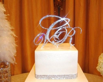 "Triple Monogram Cake Topper Set Special offer 10% discount 5"" with 3"" ANY letter from the alphabet"