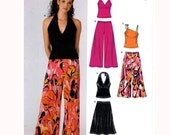 Summer Halter top skirt pants sewing pattern UNCUT New Look 6383 Bust 30 1/2 to 38