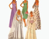 Wedding and bridesmaid dress sewing pattern McCall's 7394 Size 18 bust 40 plus size Uncut