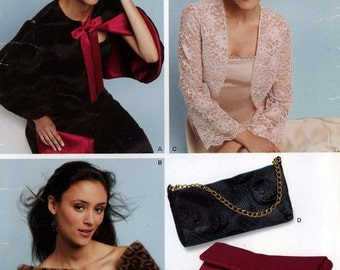 New look 6426 sewing pattern for capelet, shrug and evening purses