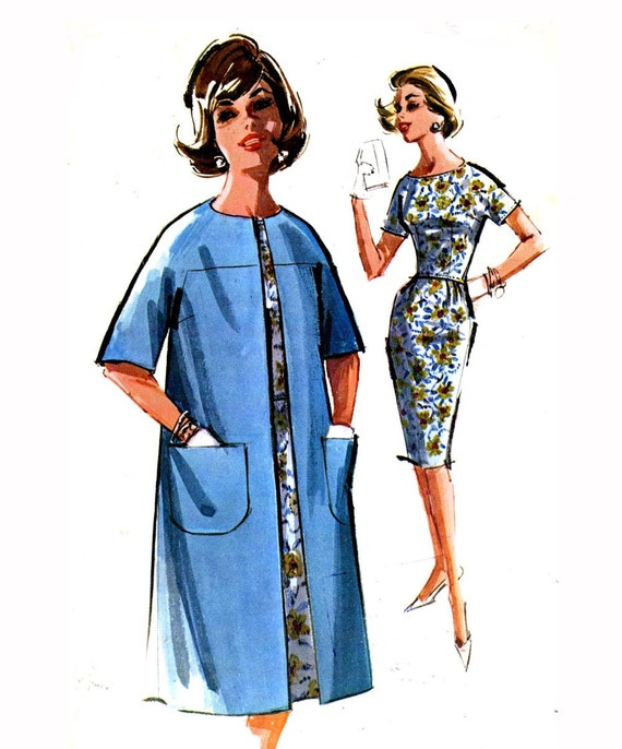 60s Mod dress and coat sewing pattern McCalls 6634 Bust 36