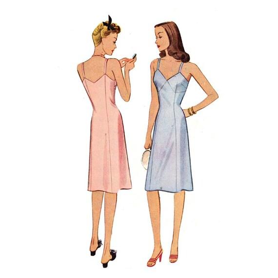 40s womens slip WW 2 era lingerie sewing pattern McCalls 5220 Bust 32 Sale