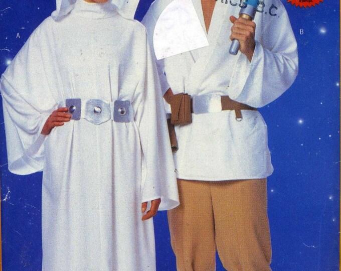 Star Wars Princess Leia Luke Skywalker costume Sewing pattern Out of print Butterick 5174 Adult mens womens