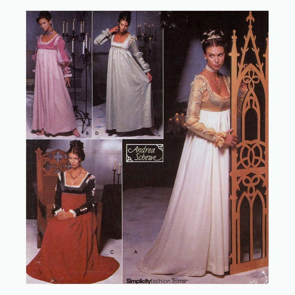 Renaissance Bridal Gown Sewing Pattern Princess Dress: Renaissance Gown Wedding Dress Sewing Pattern Simplicity 9531
