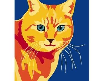 Orange Cat print