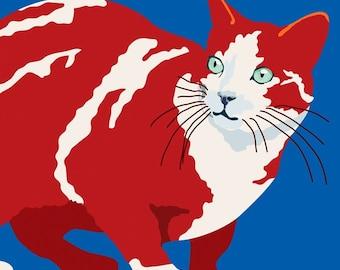 Red striped cat