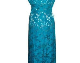 Vintage 1960s Hostess Gown Coctail Cheongsam Silk Formal Unique Bridal