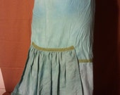 SALE -- Hand-dyed skirt with bustle -- med-small