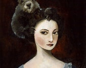 Groundhog Hair Archival Art Print, dark, gothic