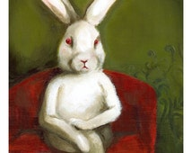 "White Rabbit art - ""Edgar""- large print"