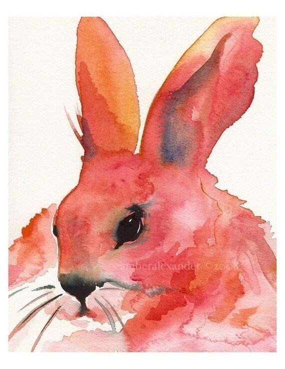 Pink Rabbit - Precious Pumpkin Pie Dollface- rabbit art