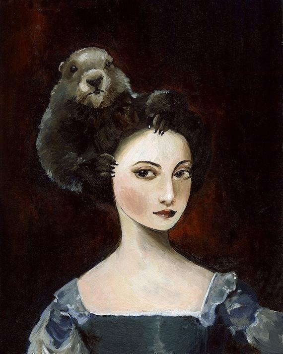 Groundhog Hair Archival Art Print, dark, gothic