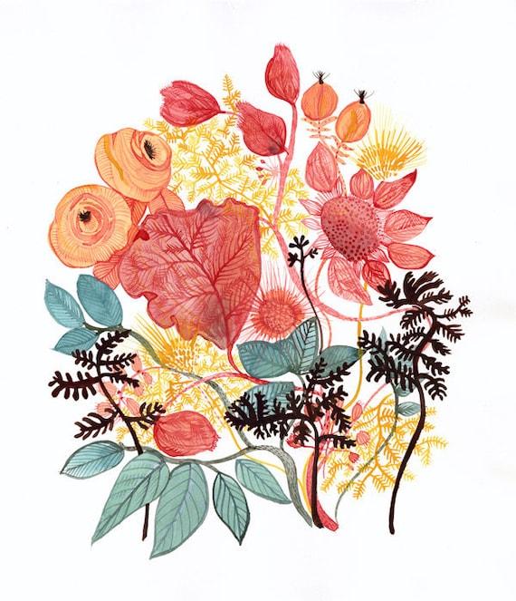 spring no 1 large modern botanical art print. Black Bedroom Furniture Sets. Home Design Ideas