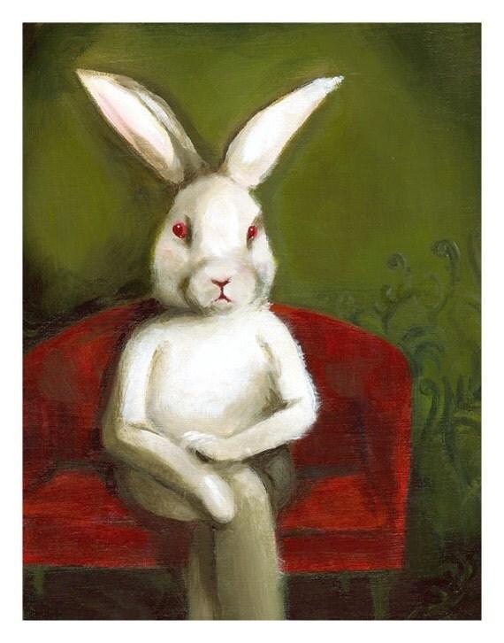 White Rabbit art Edgar