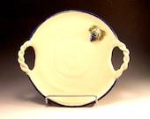 Pottery Grape Design Pottery Cheese Platter