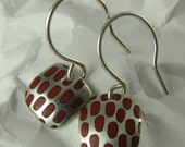 Small Square Red Pixel Earrings