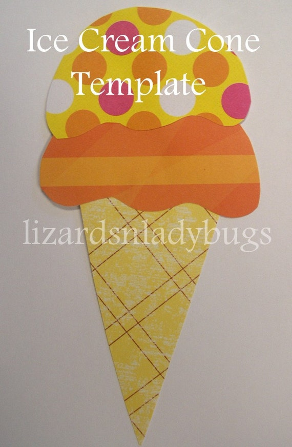 Bright image intended for printable ice cream cone