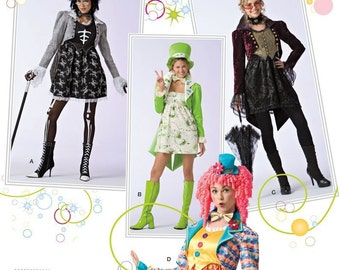 Sewing Pattern Simplicity 2525 -Steampunk,Goth,circus ,Vampire-Plus Size Out of Print