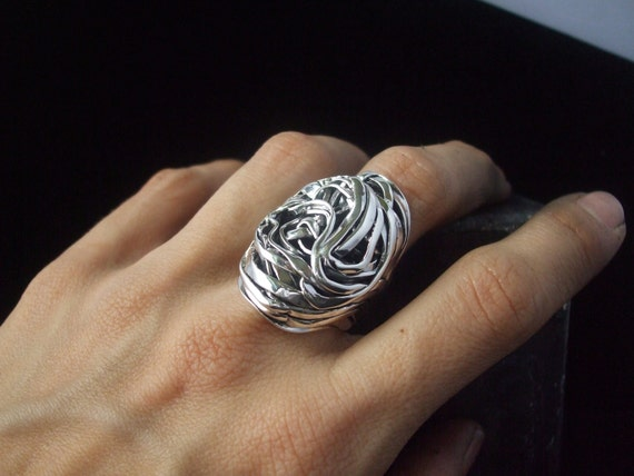 OOAK Ring Highly Sculptural Cocktail RIng