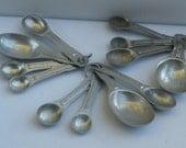 Vintage Aluminum Measuring Spoons Spoon Set