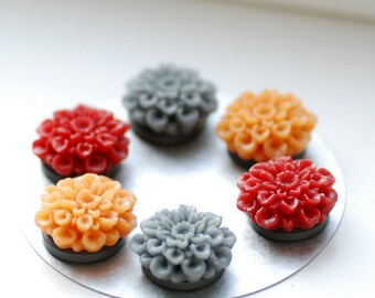 Mod Magnets, Flower Magnets, Teacher Gift, Classroom Organizer, Set of 6, Fridge Magnets, Home Organizer