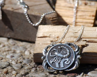 medallion alternate silver charm scorpio sign wholesale jewelry products in sterling small on pendant zodiac