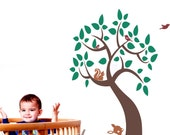 Enchanting Tree Nursery Wall Decal will add charm to any nursery, play room, or kid's room Vinyl Wall Art Sticker