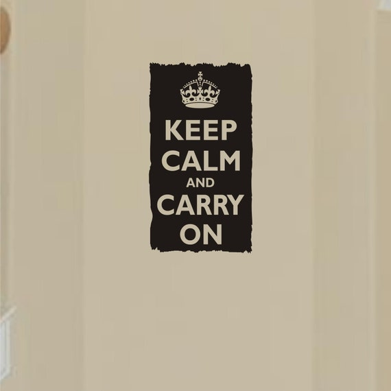Worn an torn edge keep calm