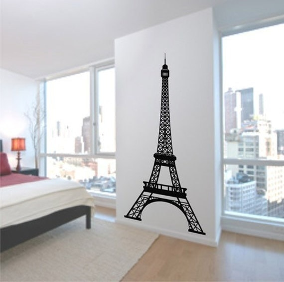 Items Similar To Eiffel Tower Wall Decal 7 Feet Tall Vinyl Wall Art Decal St