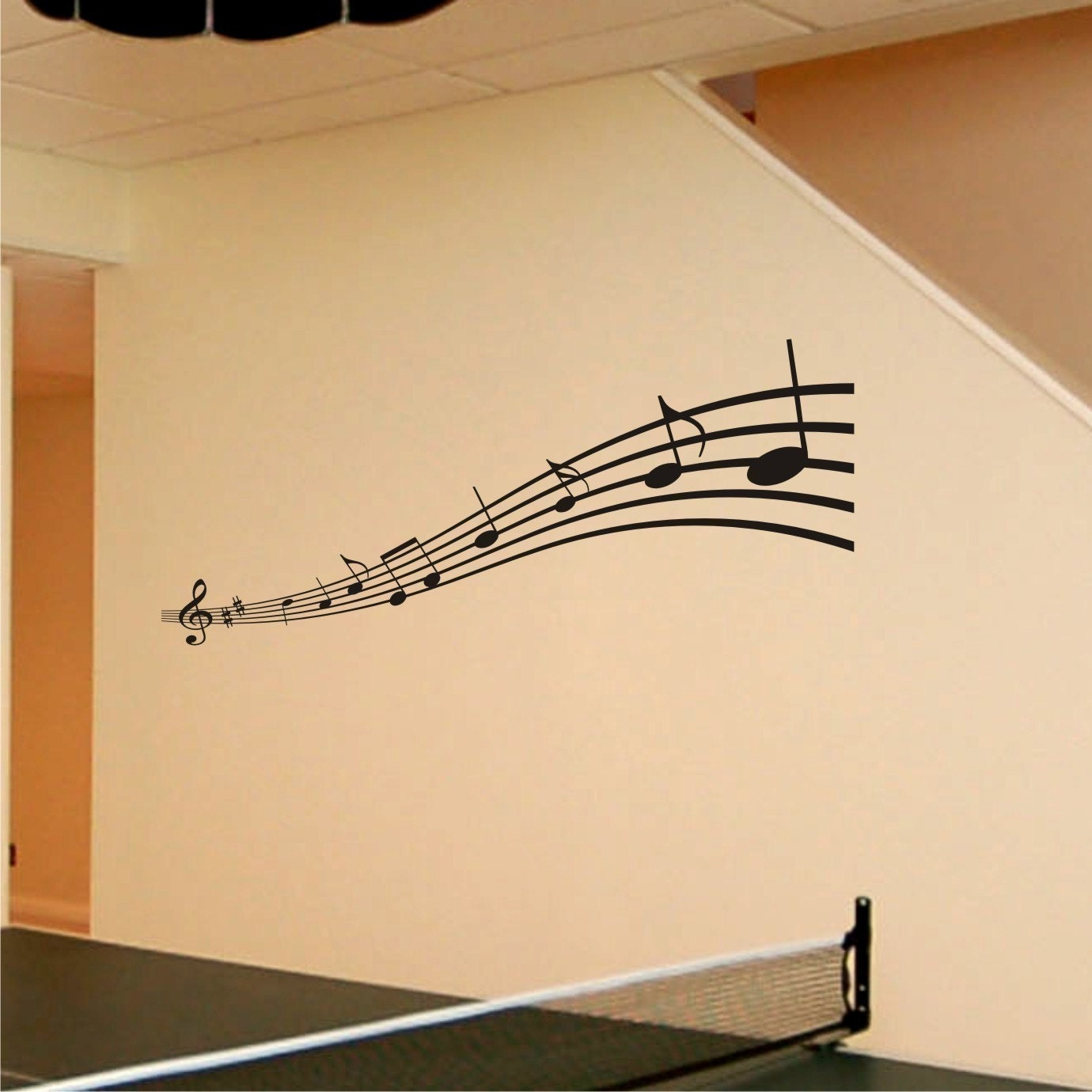Music notes wall art decals ~ Color the walls of your house