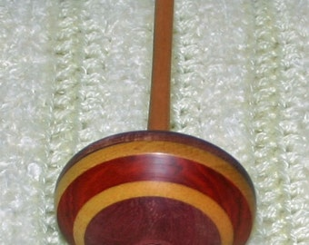 Purple Heart Tibetan Style Support Spindle With Bowl