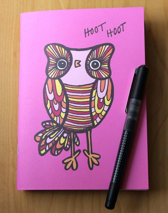 Woodland Owl Blank Journal Notebook Diary Sketchbook