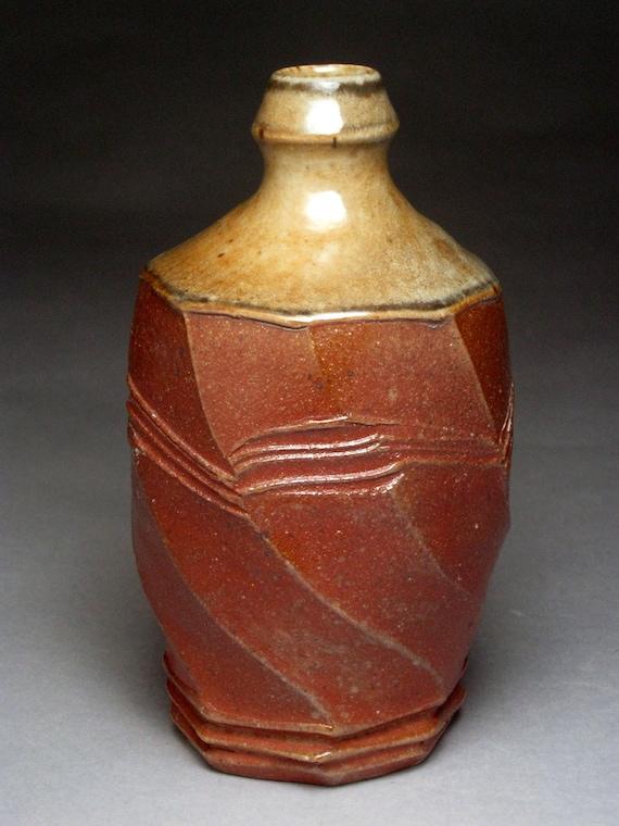 WoodFired Stoneware Sake Bottle