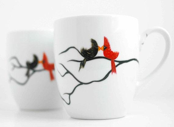 Personalized Love Birds Coffee Mug--Single Mug