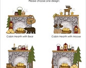 Set of 25 CABIN HEARTH Personalized Cardstock Tags, 4 Designs to Choose From