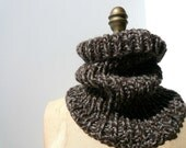 hand knit neckwarmer COWL snood