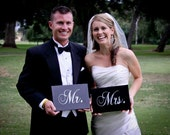 Wedding Sign, Mr. and Mrs. Signs, Photo Prop, Wedding Decoration, Wedding Decor, Photo Props