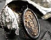 sea fan necklace cicada wing necklace lacy oval pendant gunmetal patina diorama lace necklace natural real SEA FAN ELLIPSE