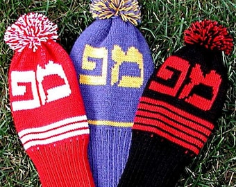 Personalized Hebrew Golf Club Covers - Set of 3