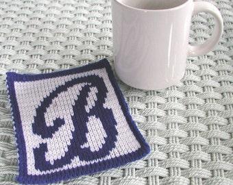 Personalized Knit Mugrug Coaster
