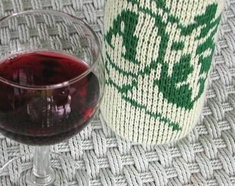 Knit Personalized Monogram Wine Cozy