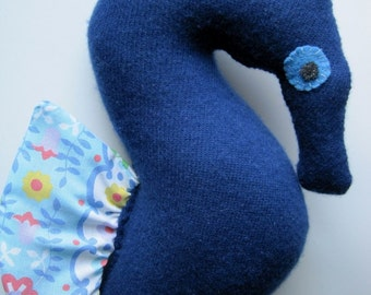 Blue Cashmere Mama Seahorse