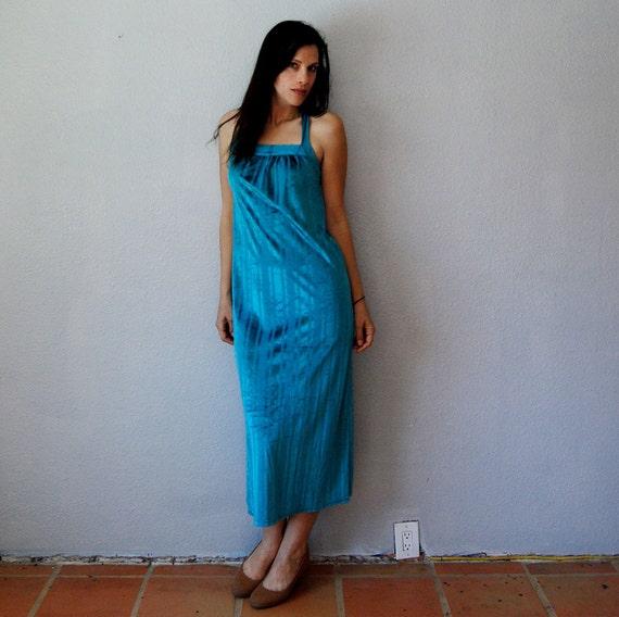 velvet GRECIAN dress / 1970s  HALTER dress