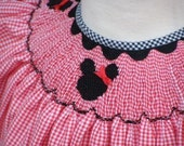 Smocked Minnie Mouse Bishop Size 6month - 4T