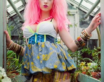 Japanese Fashion Harajuku Decora Girl KPop Kawaii Carnival Bubble Dress by Janice Louise Miller