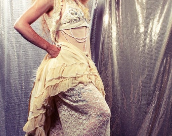 Lace Bottoms. Harem Pants. Festival fashion, Tribal Belly Dance Costume, Bikini Coverup Wide Leg Pants