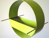 Birdfeeder - Charm Modern Bird Feeder in Key Lime - welded steel and stainless steel