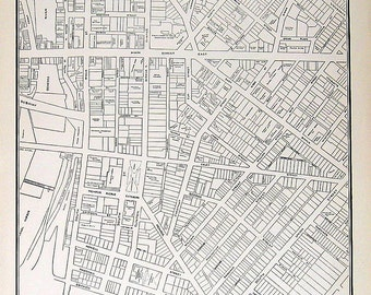1942 Rochester, New York City Map Vintage Map from World Atlas