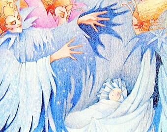 Sleeping Beauty in the Wood 1987 Vintage Fairy Tale Book Plate